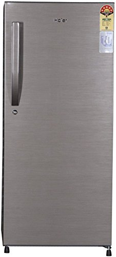 Haier 195 L 4 Star Direct-Cool Single Door Refrigerator (1954BS-R, Brushed Silver)_LA