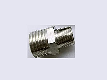 """Gauge Adapter Pipe to Fitting Adapter 1//4/"""" NPT Male Pipe x M14x1.5 Female Pipe"""