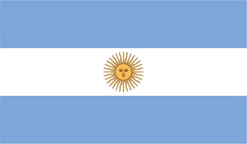 JMM Industries Argentina Flag Vinyl Decal Sticker Argentinian Car Window Bumper 2-Pack 5-Inches by 3-Inches Premium Quality UV-Resistant Laminate -