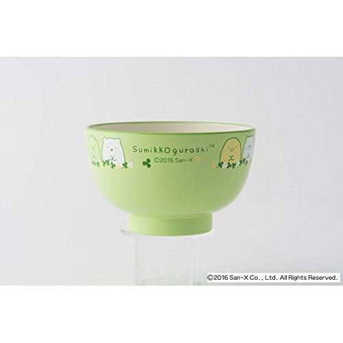 [2 bowls set!!] San-X Sumikko Gurashi Japanese Rice Bowl & Japanese Soup Bowl Set for Kids White & Green by San-X (Image #1)