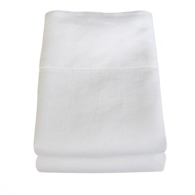 Linoto 100% Linen Pillowcases White 31x20 Fits Standard or Queen Pillow