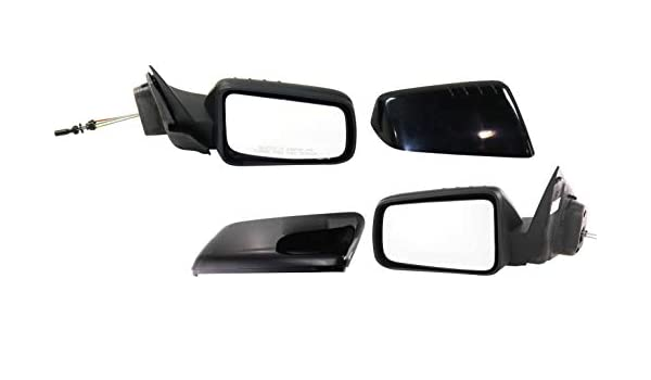 Passenger Side Paintable//Textured Black Mirror Compatible with 2008-2011 Ford Focus Manual Remote 2 Caps