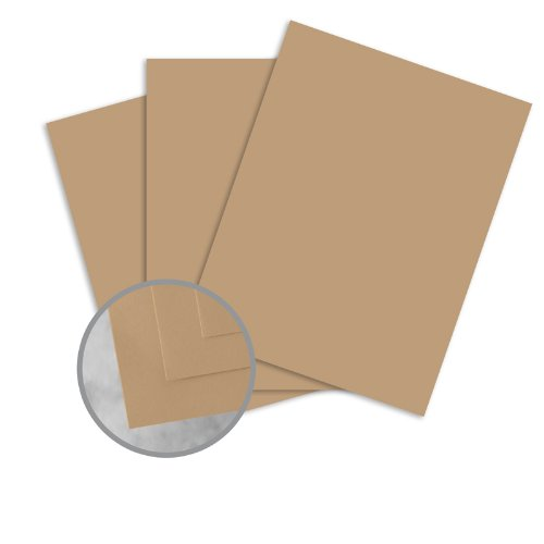 Flavours Gourmet Chestnut Creme Paper - 8 1/2 x 11 in 70 lb Text Smooth 25 per Package (Paper Creme)