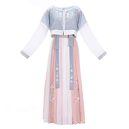 End of the desert Han Clothing Hanfu Female Heavy Industry Embroidery Three-Piece Suit from End of the desert