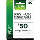 Cricket Prepaid Wireless $50.00 30 Day Refill Card image