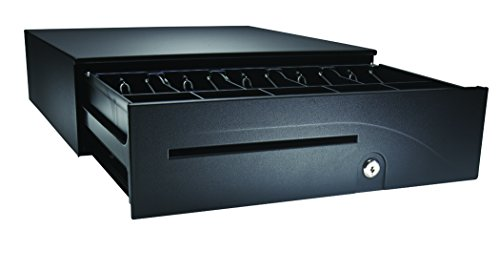 APG T554A-BL1616 Heavy-Duty Painted-Front Cash Drawer with USBPro II USB Interface, 24V, 16'' x 4.9'' x 16.8'', Black by APG