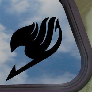 FAIRY TAIL Logo Black Decal Anime Cartoon Window Sticker (Tail Decal)