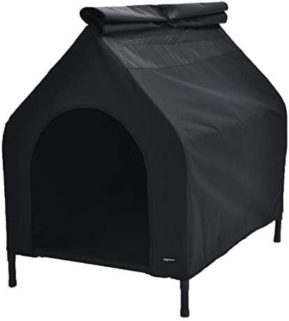Amazon Basics Niche mobile surélevée pour animal domestique, Noir, TailleM