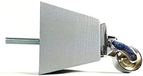 Knightsbrandnu2u 4 x Madera Maciza Patas de Muebles de Repuesto pies de Ruedas para rincón, sillas, sofás, taburetes – M8 (8 mm) – pkc364 _ CHQ, Silver Set, ...