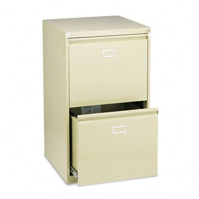 Safco Products 5039 Vertical File Cabinet, 2-Drawer , Tropic Sand