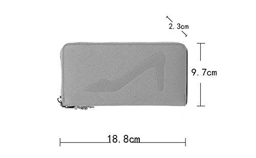 Sezione Women 's portafoglio delle donne' s della cartella borsa cerniera portafoglio mano sulla croce - borse modello ( 颜色 Color : Giallo )