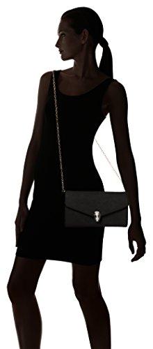 Bali Carteras de Black Swans Leather mano Mujer Swanky Negro Clutch Snakehead fnSWnFT