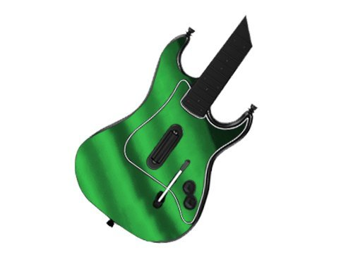 (Guitar Hero III 3 (GH3) for PlayStation 2 (PS2) Skin - NEW - GREEN CHROME MIRROR system skins faceplate decal mod )
