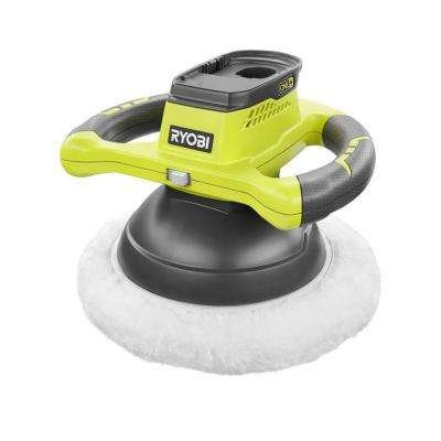 "Ryobi P435 One+ 18V Lithium Ion 10"" 2500 rpm Cordless Orbital Buffer / Polisher with 2 Bonnets (Battery Not Included, Power Tool Only)"