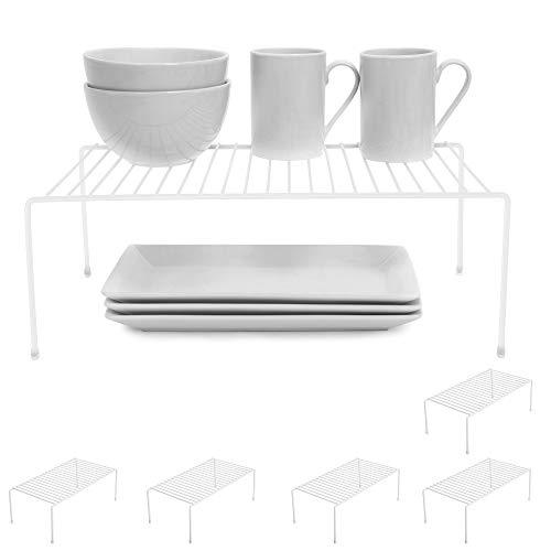 Smart Design Cabinet Storage Shelf Rack – Large (8.5 x 16 Inch) – Non-Slip Feet – Steel Metal Frame – Rust Resistant…