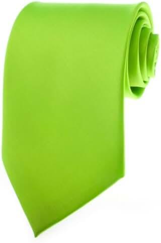 TopTie Mens Necktie Solid Color Green Ties, Formal Neck ties, Gift Ideas
