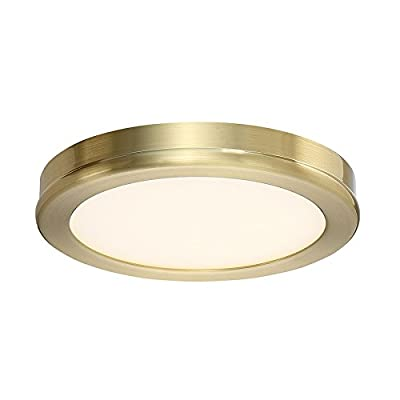 WAC Lighting FM-4606-27-BR Geos Round Low-Profile Flush Mount LED Fixture