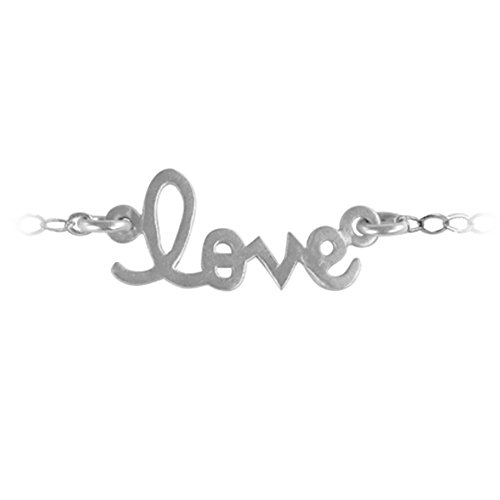Necklace Name Script 10k (TwoBirch Personalized Script Nameplate Necklace 10k White Gold 24 Inches)