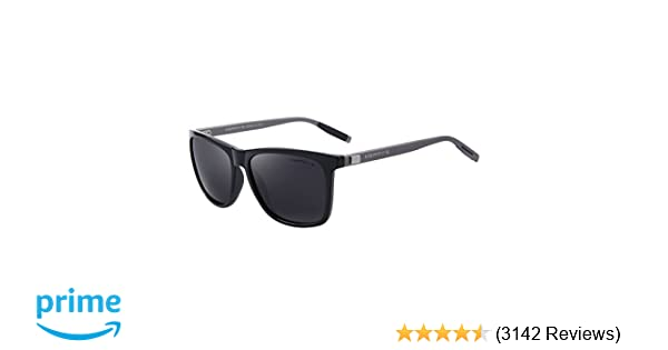0b98d39428f5 Amazon.com  MERRY S Unisex Polarized Aluminum Sunglasses Vintage Sun Glasses  For Men Women S8286 (Black