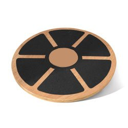 20 Wooden Wobble Board with Grip AmStaff Fitness