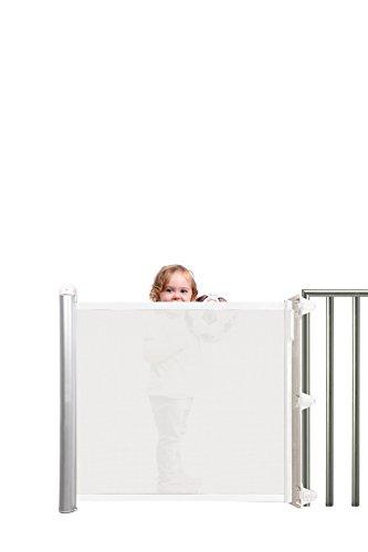 Lascal KiddyGuard Avant Retractable Baby Safety Gate, White Mesh by KiddyGuard (Image #5)