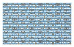 Ambesonne Nautical Doormat, Sailor Uniform Stripes Backdrop Cruise Regatta Tourism Classic Illustration, Decorative Polyester Floor Mat with Non-Skid Backing, 30 W X 18 L Inches, Brown Blue -