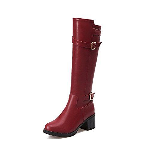 Balamasa Stivali Da Donna Con Zeppa Stivali In Uretano Rosso