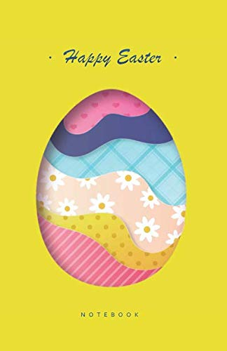 Happy Easter Notebook: Beautifully Designed Easter Themed Notebook in Half-Letter Size (Lined Soft Cover), Ideal for Gift / Present -