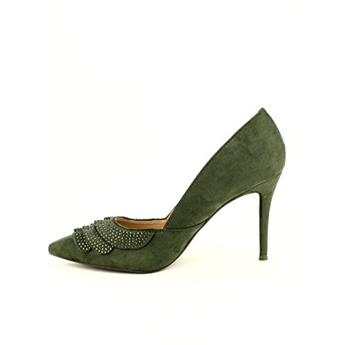 Femme Escarpin Kaki VOLANTY Kaki Chaussures Cendriyon 7W6F0YAq