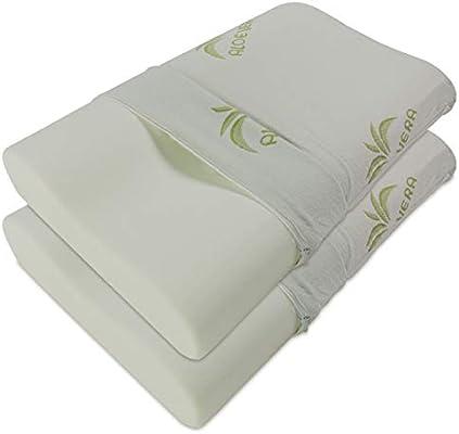 Baldiflex Pack de 2 Almohadas Viscoelástica, Cervical de Cama ...