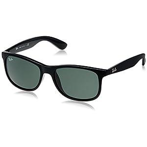 Ray-Ban Andy RB4202 606971 Non-Polarized Sunglasses, Matte Black/Dark Green,55mm