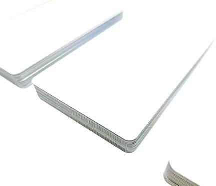 Tarjetas de plástico blanco prémium, de PVC blanco, 1 - 500 ...