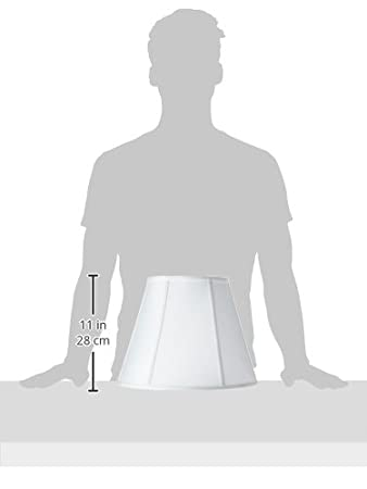 Royal Designs Deep Empire Lamp Shade Linen White 9 x 16 x 12.25