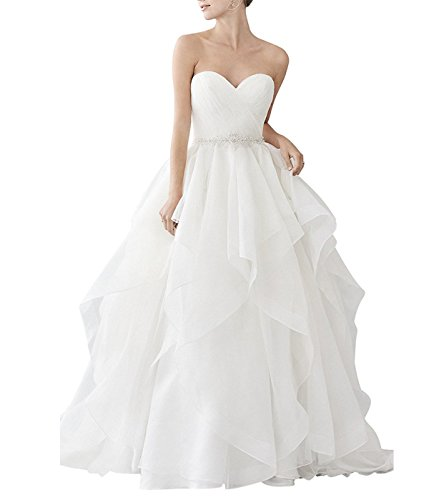 Organza Bridal Wedding Gown - 7