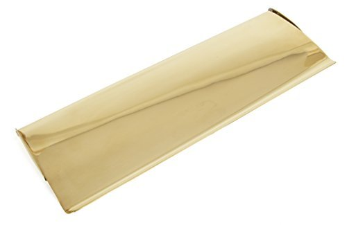 Polished Brass Letter Plate (From the Anvil 33051 Large Cast Letter Plate Cover - Polished Brass by From the Anvil)