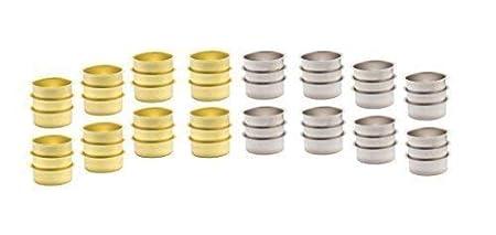 Tealight Cup for Standard Tea Light Candles Tealight Holder Black 40mm Flat