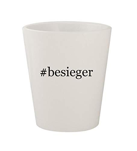 #besieger - Ceramic White Hashtag 1.5oz Shot Glass