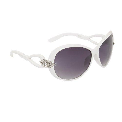 DIAMOND EYEWEAR NEW RHINESTONE SUNGLASSES UNIQUE COLORS - WHITE - Wholesale Unique Sunglasses