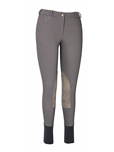 (TuffRider Ladies Ribb Lowrise Breeches | Color - DarkCharcoal | Size - 34)