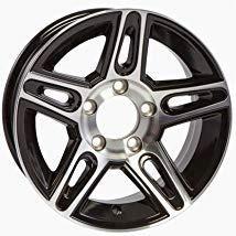 Trailer Wheel Rim 14X5.5 (5 on 4.5) Spoke Aluminum Black Pinnacle 3.19CB 2200 Lb