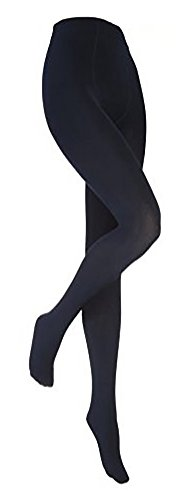 Heat Holders - Women Thick Winter Warm Colored Black Fleece Lined Thermal Tights (Medium, Navy/Blue)