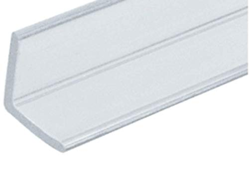 Angle Clear Glass Shower Door - CRL Multi-Purpose Polycarbonate Angle Jamb for 1/4