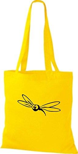 Mujer Tela Bolso Para De Amarillo Shirtstown Algodón EXOq7BXw