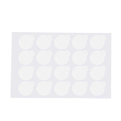 Anself 500pcs Professional Disposable Eyelash Extension Pallet Glue Sticker Eye Lash Pads Adhesive Glue Paper