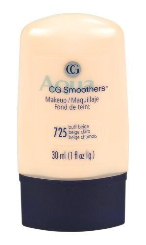 CoverGirl Smoothers Liquid Make Up, Buff Beige 725, 1-Ounce Packages (Pack of 2) - Smoothers Hydrating Foundation