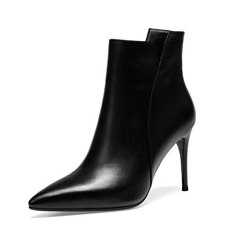 Stiletto Femme Bottines à Courtes Talons Pointus Black pour wxR8TgSqa