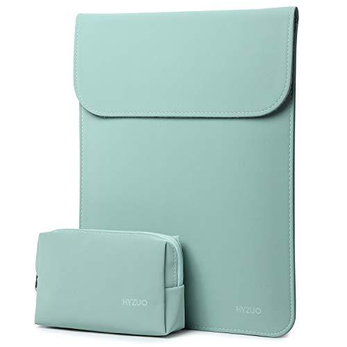 estuche + bolso para notebook 13 pulgadas verde menta HYZUO