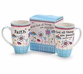 Burton And Burton 128423 Mug-With God All Things Are Possible With Gift Box