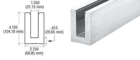 Cr Laurence B7S20 CRL Mill Aluminum Square Heavy-Duty Bas...