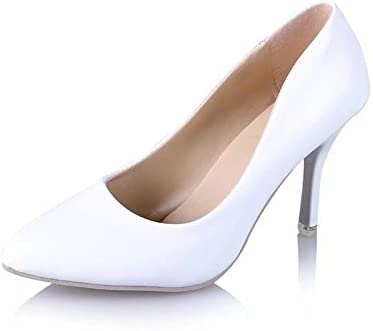 Hoesczs High Heels Spring And Autumn White Wedding Shoes Women S